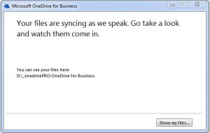 O365 ODB Confirmation popup