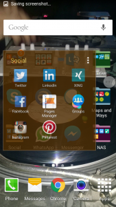 Social media apps on Android