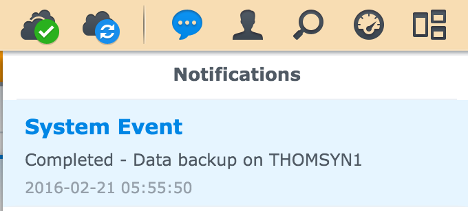 Synology Backup Completion Notification