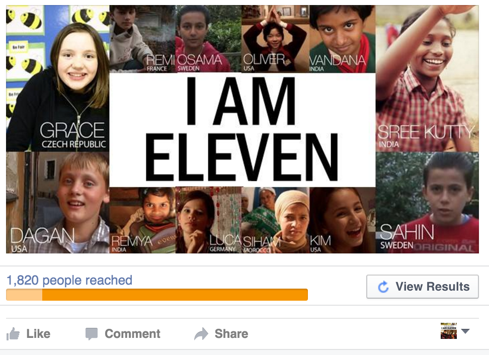 facebook I AM ELEVEN boosted post